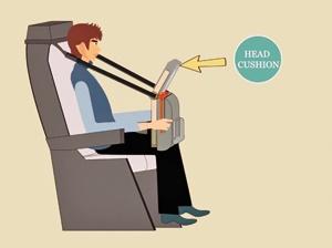 ابتکاری برای خواب در هواپیما