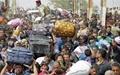 تدابیر شدید امنیتی در بغداد همزمان با ورود هزاران عراقی آواره از الانبار