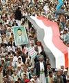 راهپیمایی مردم یمن در اعتراض به تجاوز نظامی عربستان
