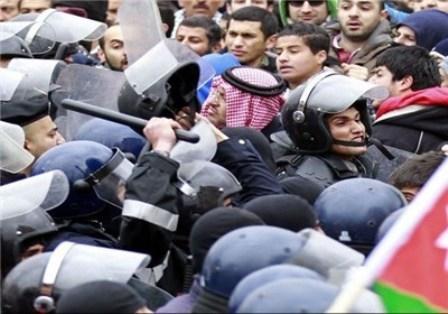 قیام مجدد مردمی در شهر معان اردن