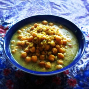 آشنایی با روش تهیه آش دانه کولانه - غذای محلی کردستان