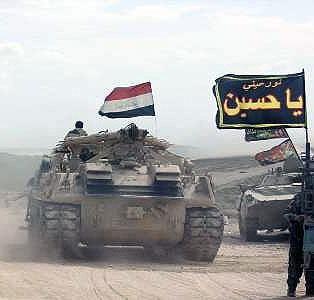 پیشروی نیروهای امنیتی و مردمی  عراق در همه جبهه ها