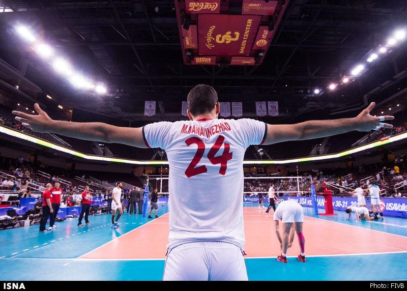 تیم ملی والیبال ایران به آمریکا باخت