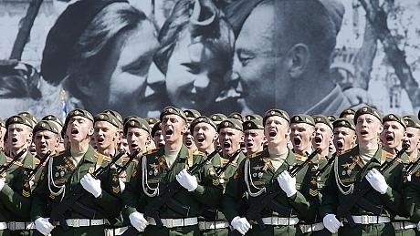 برگزاری مراسم هفتادمین سالگرد پیروزی ارتش سرخ در برابر آلمان نازی
