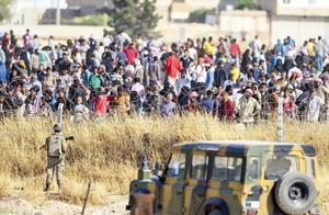 آوارگان سوریه در مرز این کشور با ترکیه