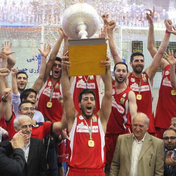 نماهایی از جشن قهرمانی مهرام در لیگ حرفهای بسکتبال