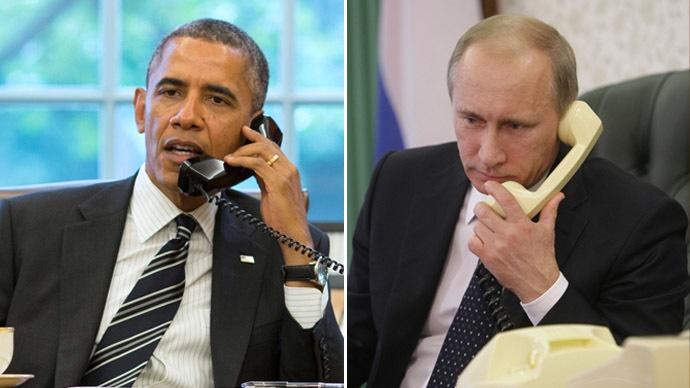 اولین تماس تلفنی پوتین-اوباما پس از چهار ماه
