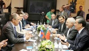 نشست وزیران خارجه ایران، روسیه و چین در مسکو