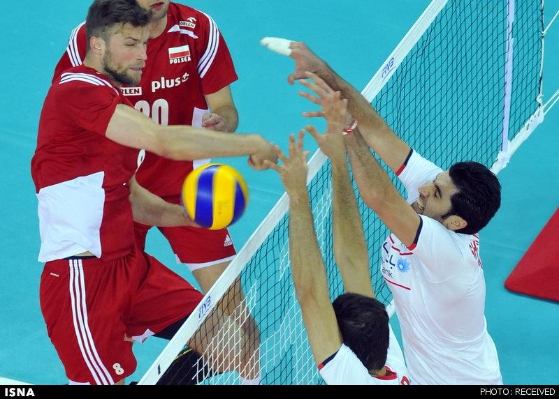 تیم ملی والیبال ایران به لهستان باخت اما امتیاز گرفت