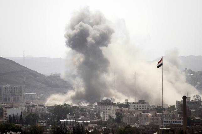 شمار کشته های مقر ارتش یمن در تجاوز هوایی عربستان به ۴۴ تن رسید