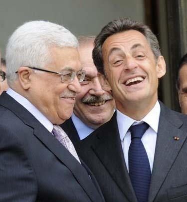 سارکوزی با محمود عباس دیدار کرد