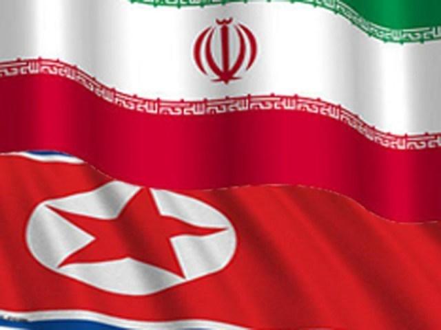north-korea-iran-flags