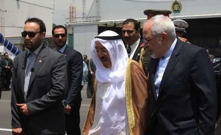 ظریف با امیر کویت دیدار کرد