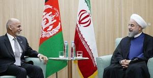 گزارش دیدار دکتر روحانی با رییس جمهوری افغانستان