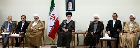 رئیس جمهور و اعضای هیئت دولت با رهبر معظم انقلاب دیدار کردند