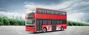 نخستین اتوبوس دو طبقه برقی جهان