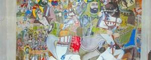 روایت پردههای نقاشی از جوانمردی علی (ع)