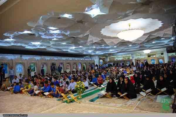 طرح ملی قرآنی ۱۴۴۹ در حرم حضرت معصومه (س) برگزار شد/ اجرای جنگ قرآنی