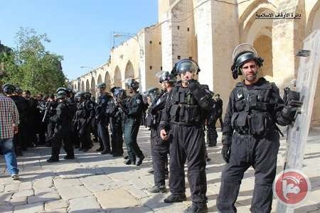نظامیان صهیونیست مانع ورود فلسطینیان به مسجدالاقصی شدند