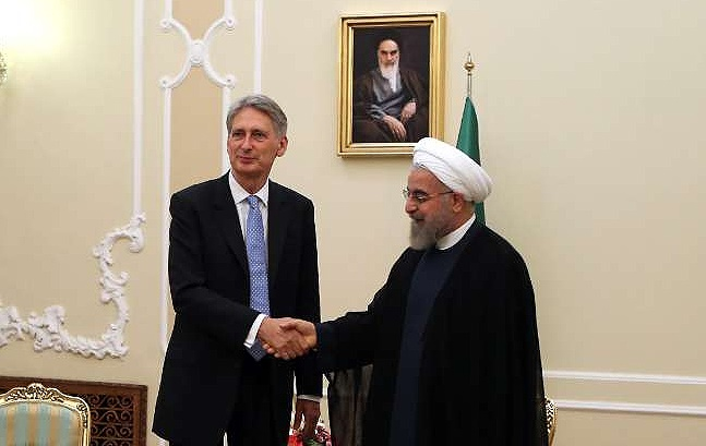 دیدار وزیر امور خارجه انگلیس با رئیس جمهور