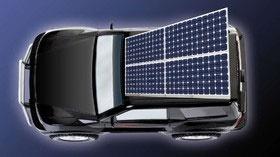 شارژ خودروی برقی حین حرکت با سلول خورشیدی