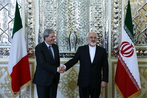 وزیر امورخارجه ایتالیا با ظریف دیدار کرد