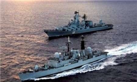 ناوگروه روسیه میهمان ناوگان شمال نیروی دریایی ارتش