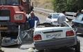 مرگ دو جوان در تصادف پراید با کامیون