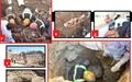 نجات معجزهآسا از زیرآوار ۸ متری