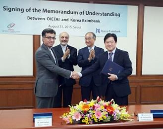 امضا یادداشت تفاهم تخصیص اعتبار ۵ میلیارد دلاری بین سازمان سرمایه گذاری ایران و اگزیم بانک کره جنوبی