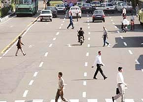 طرح پلیس برای کاهش حوادث مرتبط با عابران پیاده