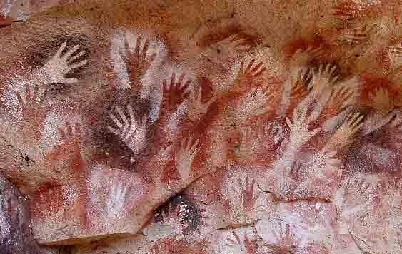 تصاویر نقاشیهای انسانهای اولیه در غارها