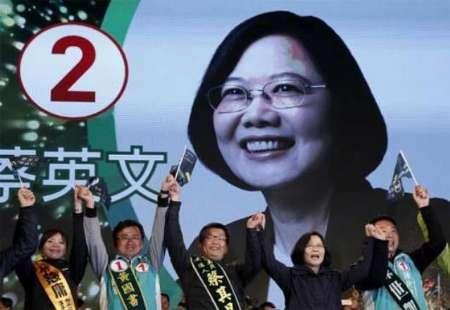پیروزی تسای در انتخابات تایوان   کومینتانگ شکست را پذیرفت