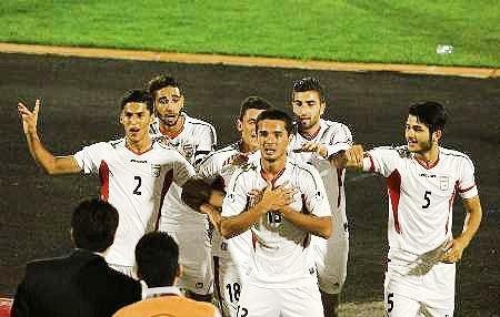 پیروزی تیم فوتبال جوانان ایران مقابل دانمارک