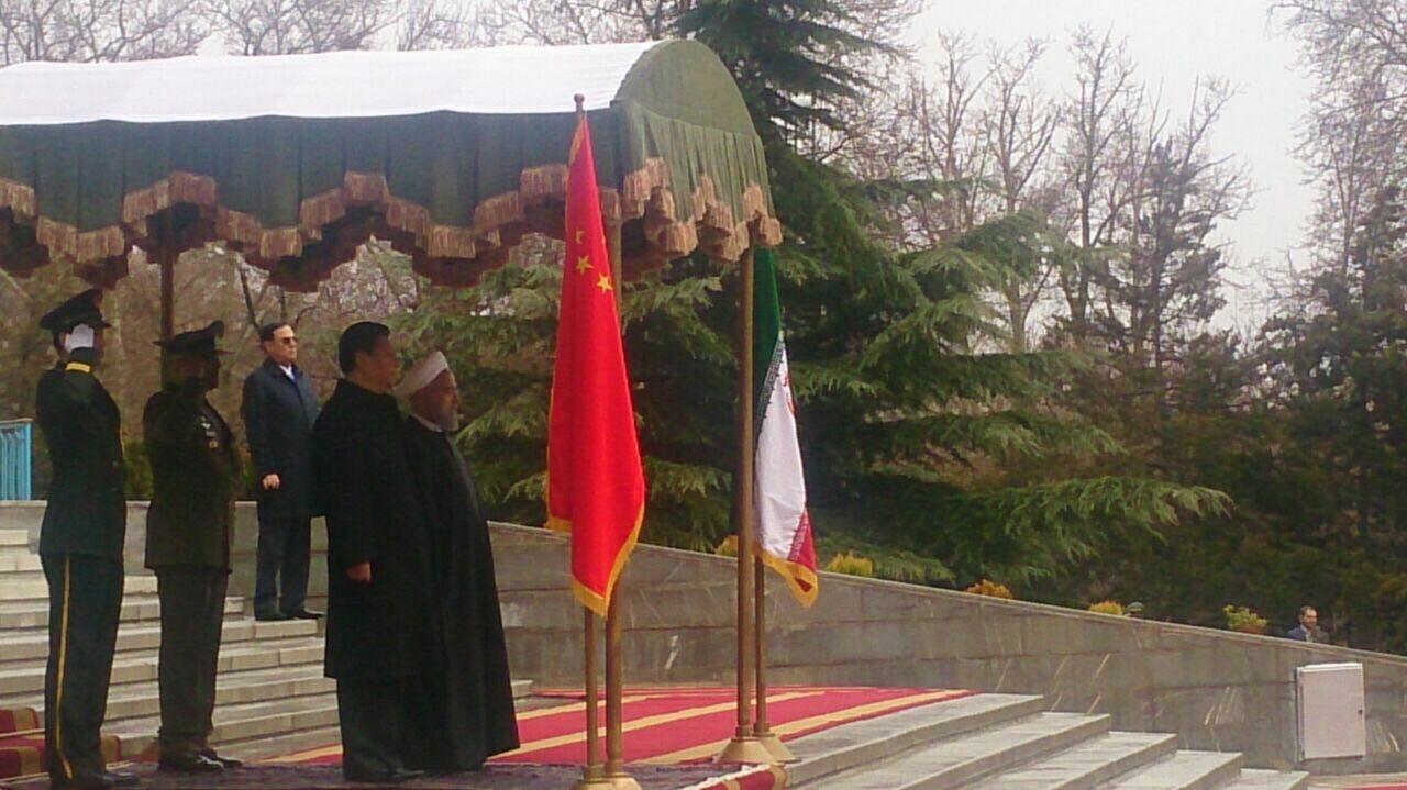 ایمان نولوو مراسم استقبال رسمی روحانی از رییسجمهوری چین