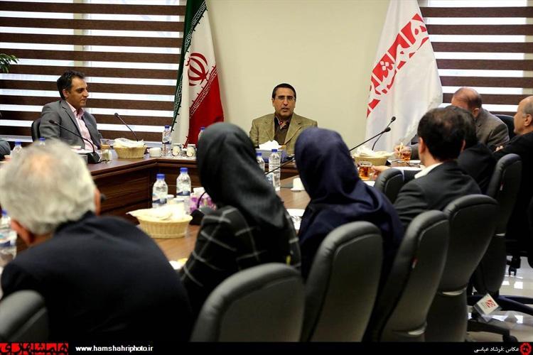 دیدار اعضای کانون وکلا از روزنامه همشهری