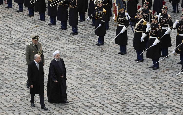 فرانسه؛ فابیوس |  استقبال رسمی از رییس جمهوری اسلامی ایران