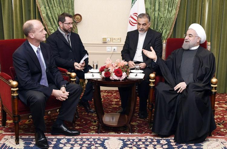 پاریس | دیدار رئیس گروه هوایی ایرباس با رئیس جمهوری ایران
