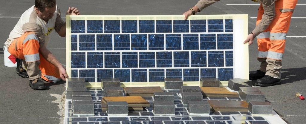 نصب هزار کیلومتر جاده خورشیدی در فرانسه
