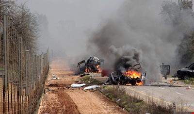 انفجار بمب در نفربر صهیونیستها در شبعای لبنان