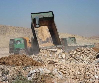 روزانه ۵۵ هزار تن نخاله و پسماند ساختمانی و عمرانی در تهران تولید میشود