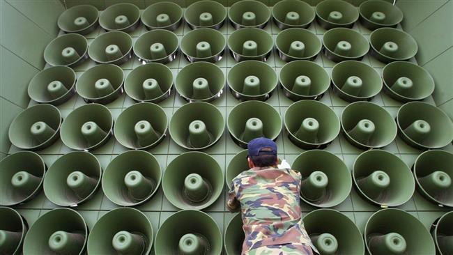 بلندگوها باز  به کار افتادند | جنگ تبلیغاتی کره جنوبی علیه کره شمالی