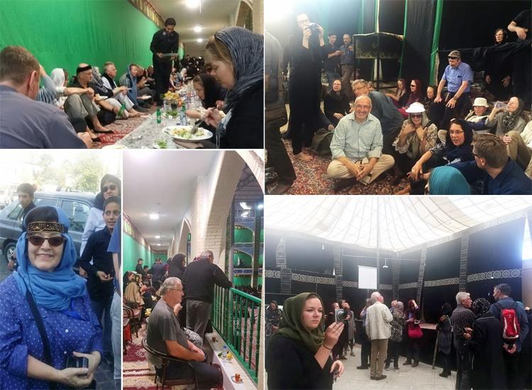 گردشگران خارجی در میان جمعیت عزاداران امامحسین (ع)