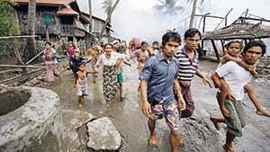 مسلمانان میانمار بار دیگر آواره شدند