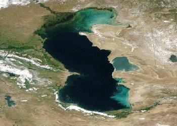 بررسی تغییرات زیستمحیطی دریای خزر با استفاده از ماهوارهها