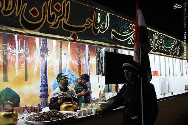 موکب مسجد جمکران در مسیر پیادهروی اربعین