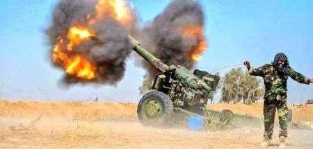 حملات توپخانه ای علیه داعش در موصل
