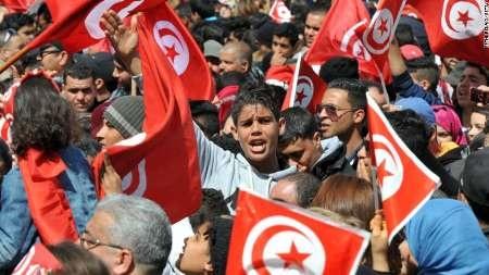 اعتراض مردم تونس علیه رژیم سعودی | جنگ را متوقف کنید
