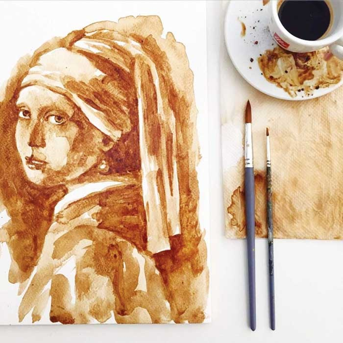 یک فنجان قهوه برای نقاشی!