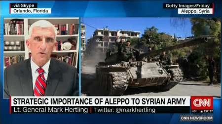 تحلیلگر سی ان ان: اسد با تصرف حلب قادر به کنترل تمام سوریه خواهد بود